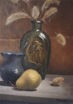 """Glass Bottle Oil on Masonite 16"""" x 12"""""""