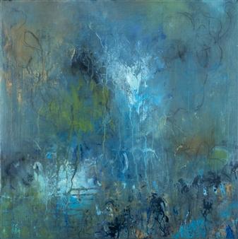 "Reverie Acrylic & Oil Pastel 18"" x 18"""