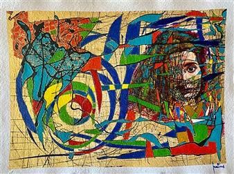 "Loyola Acrylic on Paper 23"" x 30"""