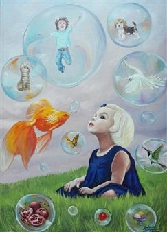 "Goldfish Oil on Canvas 27.5"" x 20"""