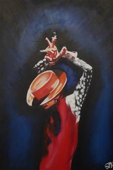"""Bailaor Acrylic on Canvas 27.5"""" x 19.5"""""""