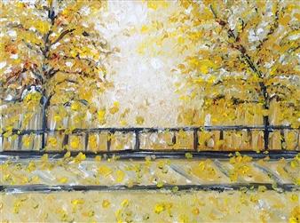 """Autumn Acrylic on Canvas 12"""" x 16"""""""