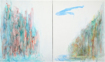 "Journey 19-2 Acrylic on Canvas 28.5"" x 48"""