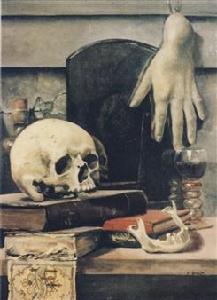 """Skull Still Life Oil on Linen 24"""" x 20"""""""
