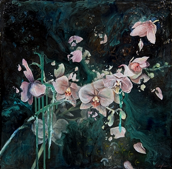 "A Broken Heart Acrylic & Mixed Media on Canvas 20"" x 20"""