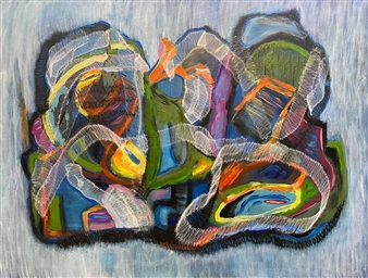 """Equilibrium Mixed Media on Canvas 36"""" x 48"""""""
