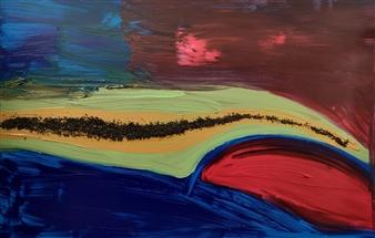 """Rio Nilo Acrylic & Mixed Media on Canvas 47"""" x 59"""""""