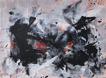 "Zheng Qi Acrylic & Ink on Canvas 18"" x 24"" x 1.5"""