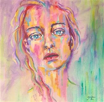 """Innocence Oil on Canvas 27.5"""" x 27.5"""""""