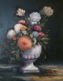 "Flowers Oil on Canvas 24"" x 20"""