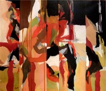"""Tú y Yo Oil on Canvas 35"""" x 46"""""""