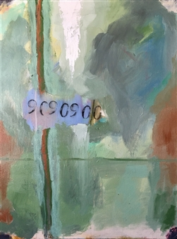 "Untitled #124 Acrylic on Canvas 24"" x 18"""