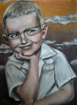 Little Michael with Clouds in the Horizon