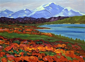 """Calender's Landscape Oil on Canvas 17.5"""" x 23.5"""""""