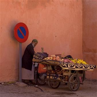 "Marrakech No Parking Chromogenic Print 23.5"" x 23.5"""