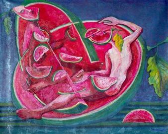 """Tropical Acrylic on Canvas 40"""" x 50"""""""
