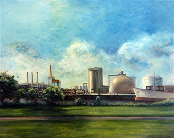 Oil, Edison plant, Everett-Summer