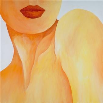 """Shrug Acrylic on Canvas 30"""" x 30"""""""