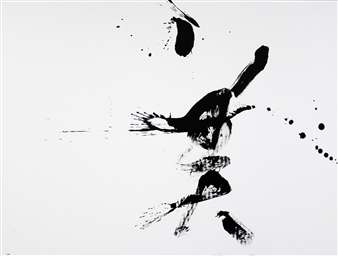 """BEAUTY_02 Japanese Calligraphy on Paper 35.5"""" x 47.5"""""""