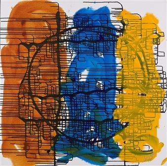 "Three Friends Acrylic on Canvas 48"" x 48"""