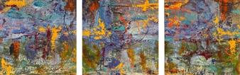 """Cascada, triptych Acrylic on Canvas 36"""" x 108"""""""