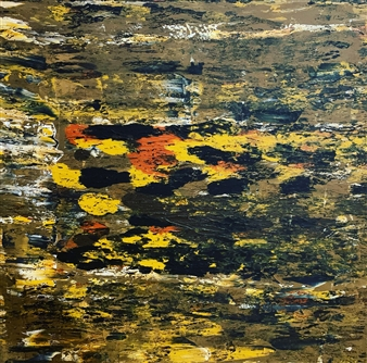 """Autumn Tracks Acrylic on Canvas 35.5"""" x 35.5"""""""