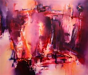 """Y Un Día fué el Fin Oil on Canvas 24"""" x 28"""""""