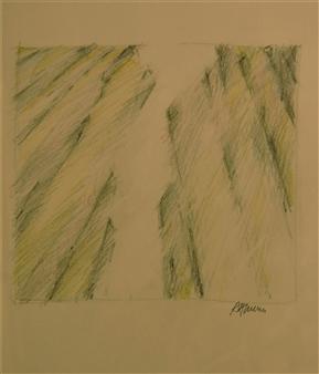 "Sketch for Landscape 1 Polychrome Pencil 28"" x 12"""