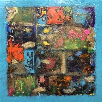 "Untitled Acrylic & Mixed Media on Canvas 24"" x 24"""