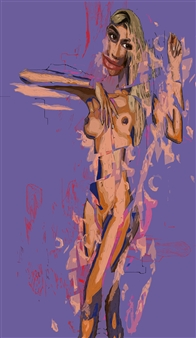 """Nude 2 Mixed-Media Assemblage 54"""" x 31.5"""" x 2020"""""""