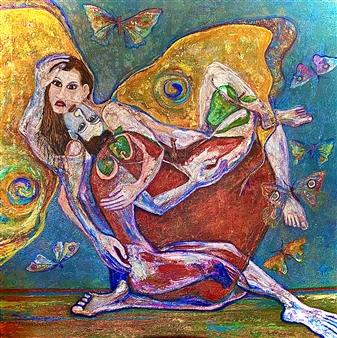 """En el Paraíso Acrylic on Canvas 44"""" x 44"""""""