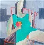 Femme a la Pomme Rouge