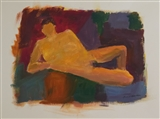 Female Nude with Colored Background