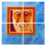 "Where Am I? <i>(composition of four 20x20"" paintings)</i>"