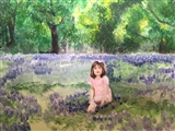 Portrait of a Child in Bluebonnet Field