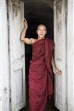 Monk at Door
