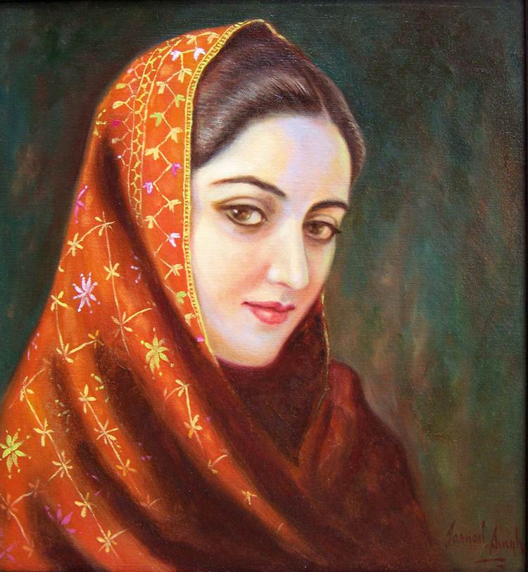 Image result for woman painting jarnail singh